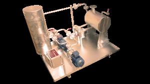 dual fuel burner oil pumping unit