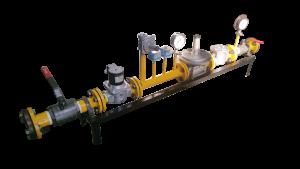 dual fuel burner gas train