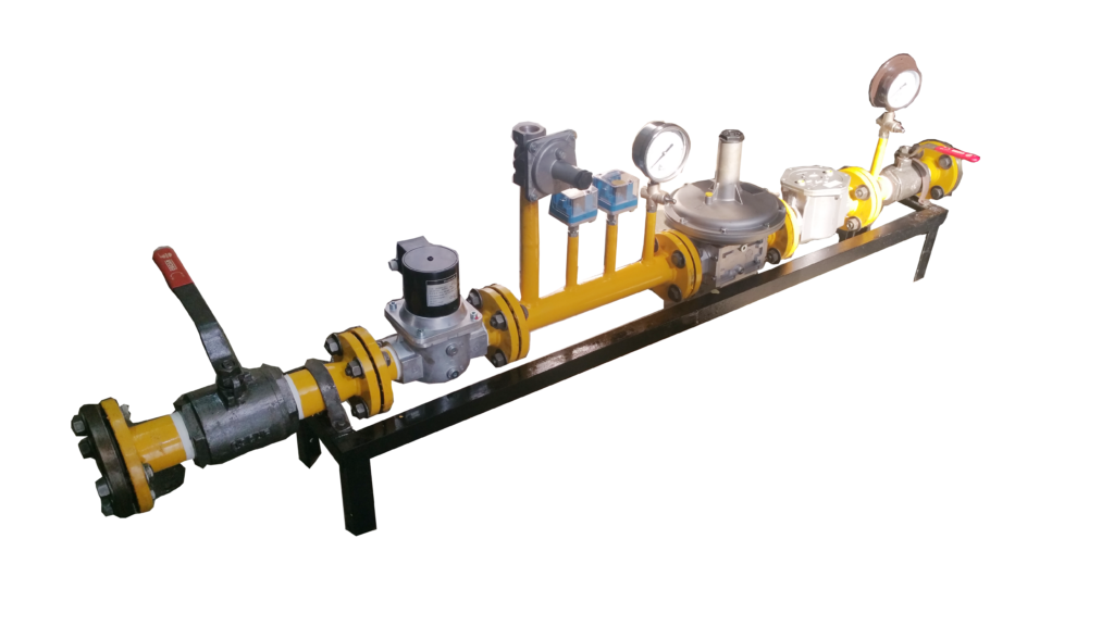 dual fuel burner gas train hitherm