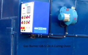 hitherm industrial gas burner for curing oven